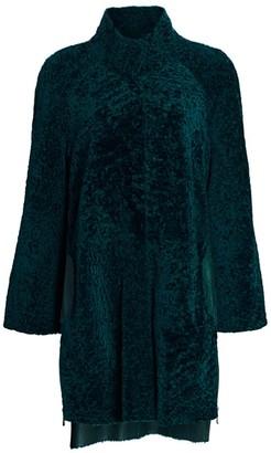 Julia & Stella For The Fur Salon Leather-Lined Shearling Lamb Fur Coat