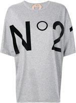 No.21 logo print T-shirt