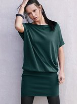 Silk & cashmere blouson sweaterdress