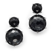 Ippolita Sterling Silver Rock Candy 2 Stone Post Earrings in Black Onyx and Hematite
