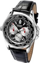 Sekonda Men's Multidial World Time Watch With Rose Gold Case And Black Leather Strap 1024