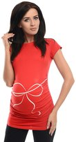 Purpless Maternity Bow Print- Printed Pregnancy Top T-shirt 2007