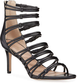 BCBGeneration Maria Leather Cage Stiletto Sandals