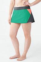 Lands' End Women's Plus Size AquaSport Mini SwimMini-Mint/Light Gray