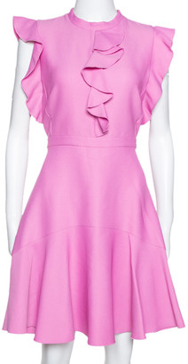 Giambattista Valli Pale Fuschia Pink Ruffled Flared Dress M