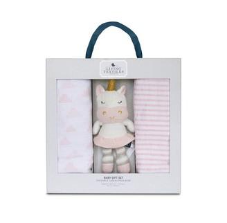 Living Textiles Baby Bento Gift Set Kenzie Unicorn