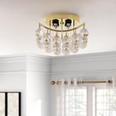 Swarovski House Of Hampton Hatton 4-Light Semi Flush Mount House of Hampton Finish: Gold, Crystal Grade: Strass