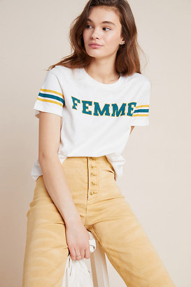 Sol Angeles Femme Striped Graphic Tee By in White Size XS