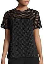 MICHAEL Michael Kors Tiny Dots Eyelet Top