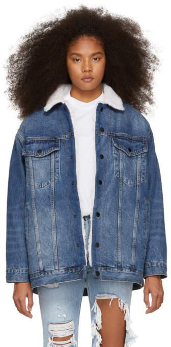 Alexander Wang Blue Denim Rift Jacket