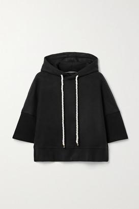 Twenty Montreal Pine Cropped Fleece Hoodie - Black