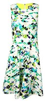 Vince Camuto Women's Sleeveless Fit and Flare Dress with Inset Waist
