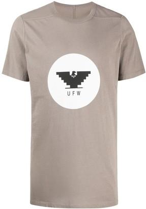 Rick Owens Level eagle-print cotton T-shirt
