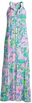 Lilly Pulitzer Luliana Print Halter Maxi Dress