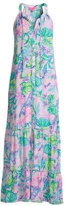 Lilly Pulitzer Luliana Print Halter Maxi Dress