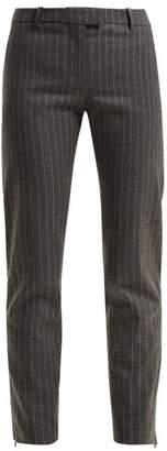 Altuzarra Henri Pinstripe Wool-blend Trousers - Womens - Grey Stripe