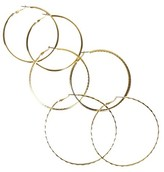 Nobrand No Brand Thin Hoop Earring Set - Gold