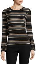 Max Studio Women's Stripe Bell Sleeve Sweater