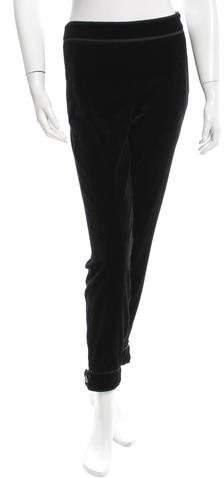 Chanel Velvet Cropped Pants