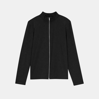 Theory Mock Neck Zip Sweater in Viscose Knit