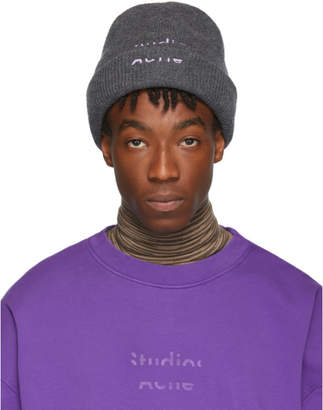 Acne Studios Grey and Purple Reed Beanie