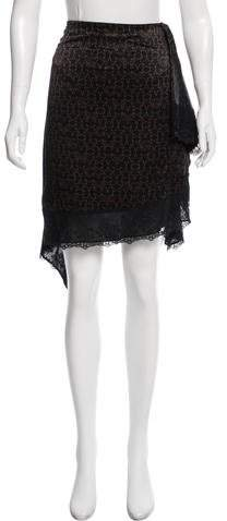 Givenchy 2016 Logo Printed Skirt