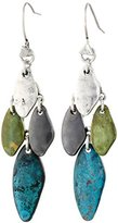 "Robert Lee Morris Soho ""Patina"" Mixed Bead Chandelier Drop Earrings"