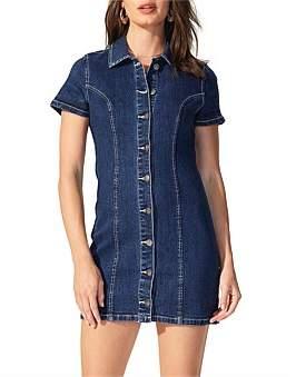 MinkPink Electra Denim Shirt Dress
