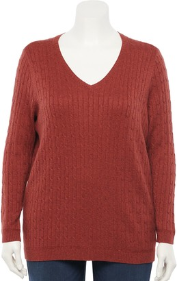 Croft & Barrow Plus Size The Classic V-Neck Sweater
