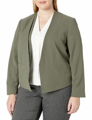 Nine West Women's Plus Size V Neck Jacket