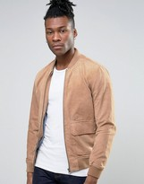 Pepe Jeans Suede Bomber Jacket