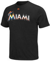 Majestic Men's Miami Marlins Wordmark T-Shirt