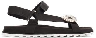 Roger Vivier Trekky Viv' Crystal-buckle Sandals - Black