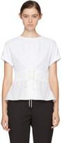 3.1 Phillip Lim White Corset T-Shirt