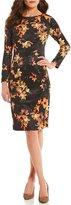 Preston & York Lucille Rustic Floral Printed Scuba Dress