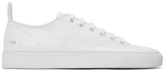Common Projects White Leather Tournament Low Sneakers