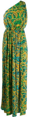 Versace Leo Chain Print maxi dress