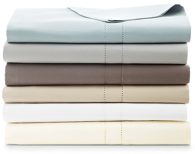 Hudson Park 800TC Solid King Flat Sheet