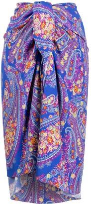 Etro Paisley-Print Midi Skirt