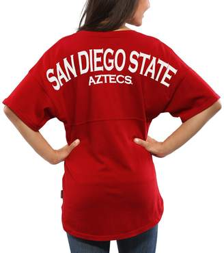 Unbranded Women's Red San Diego State Aztecs Spirit Jersey Oversized T-Shirt