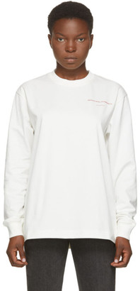 Alexander Wang White Saw Blade Long Sleeve T-Shirt