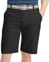 Izod Golf Solid Flat-Front Shorts