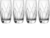 Mikasa Agena Set of 4 Crystal Highball Glasses