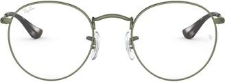 Ray-Ban RX3447V Round Metal Eyeglass Frames Non Polarized Prescription Eyewear