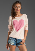 Wildfox Couture Love Note Baggy Beach Jumper