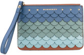 Burberry scalloped detail purse - women - Leather - One Size