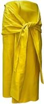 Joseph Yellow Leather Skirts