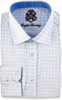 English Laundry Check Jacquard Long-Sleeve Dress Shirt, Blue