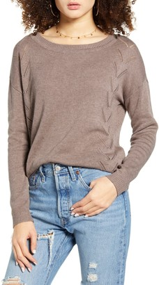 Lulus Pointelle Me More Sweater