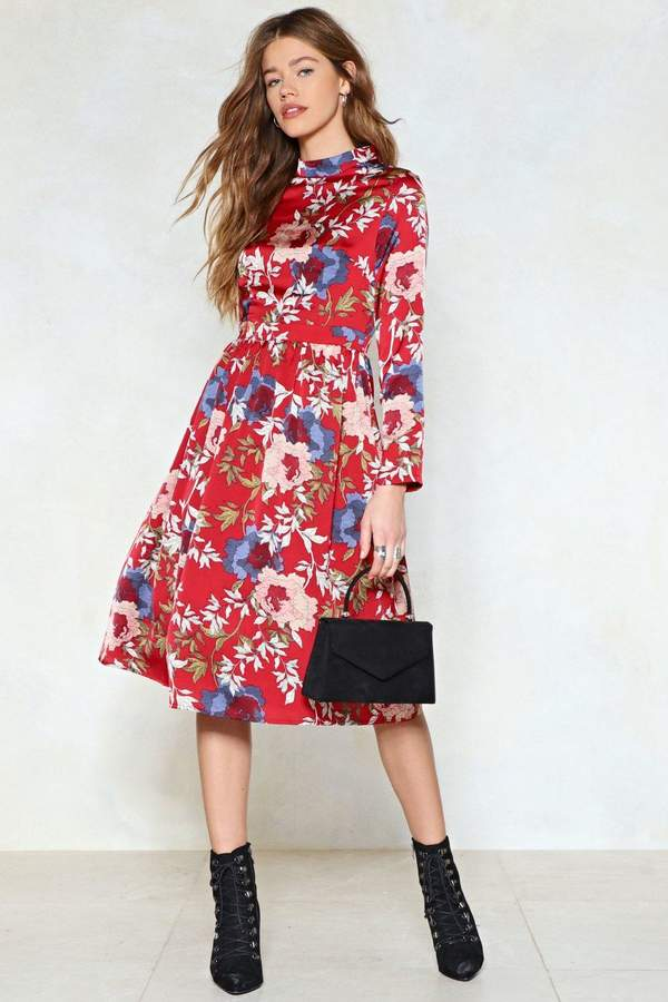 Nasty Gal Garden Party Floral Dress